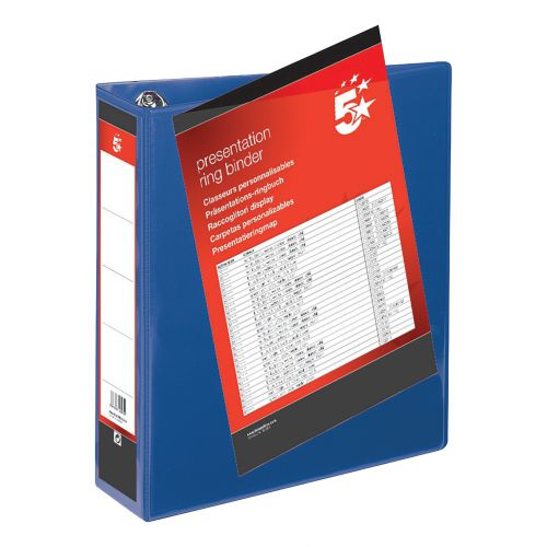 Binder D Ring- 50mm Black Large A4 Folder (1)