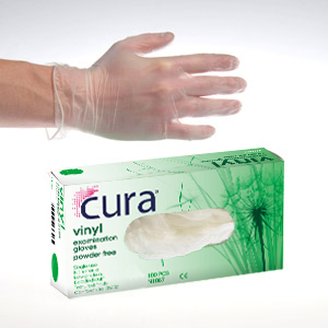 Gloves Vinyl Clear, Powder Free Medium (100)